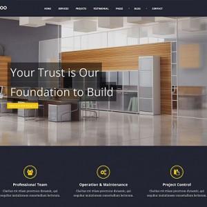 Batakoo - szablon strony Wordpress dla firmy budowlanej