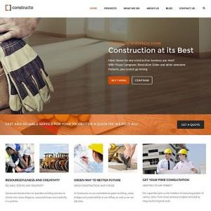 Constructo - motyw dla firmy budowlanej lub architekta